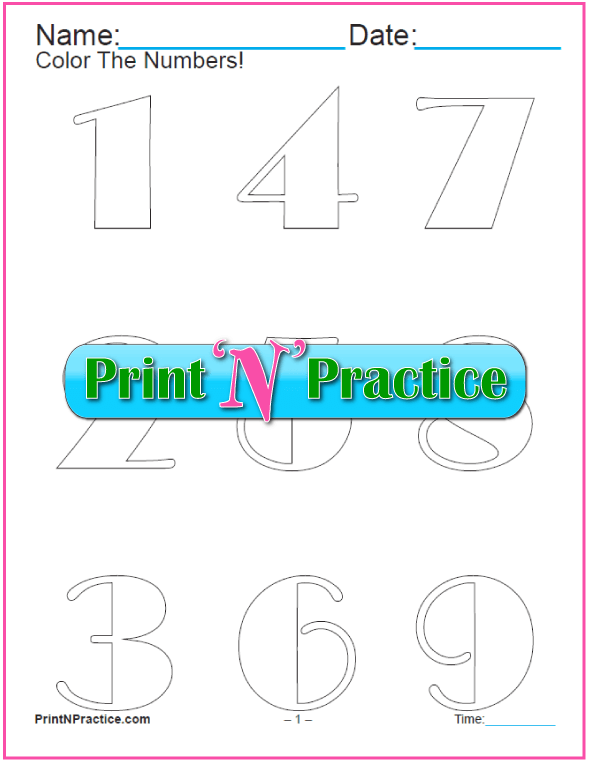 11 Wide Stroke Printable Number Coloring Pages
