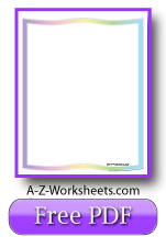 Printable Writing Paper: Pastel Rainbow Paper