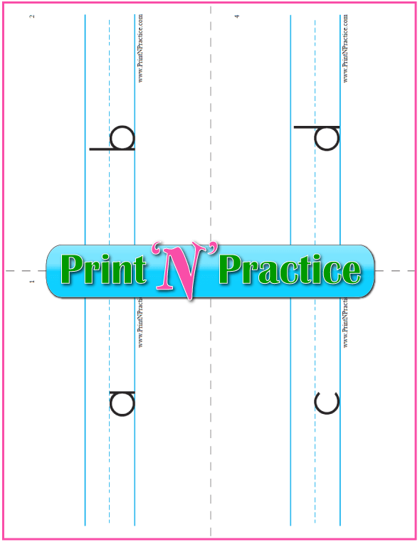 Printable Phonics Flashcards: Single side.