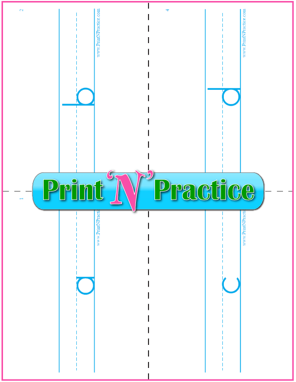 Printable Phonics Flashcards: Double sided.