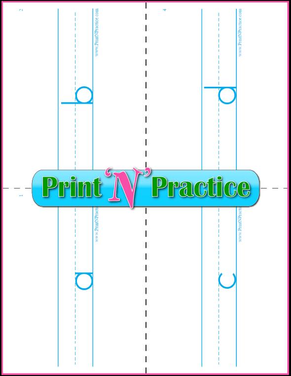 Printable Phonics Flashcards: Double sided.