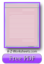 Pink Printable Lined Paper