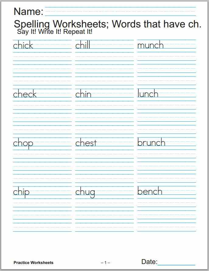 Printable Worksheets Blog Practice Worksheets For Kids – Spelling Math Worksheets