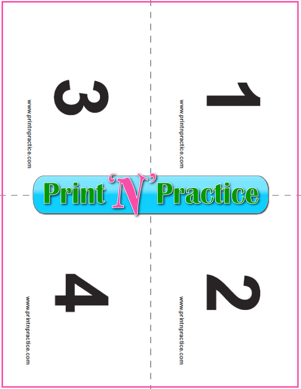 Printable preschool counting flashcards 1-4