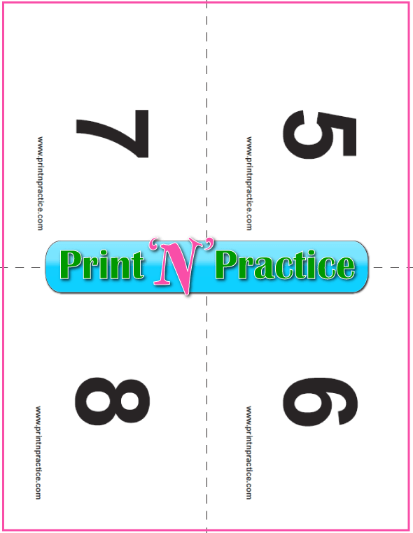 Printable preschool flash cards 5-8