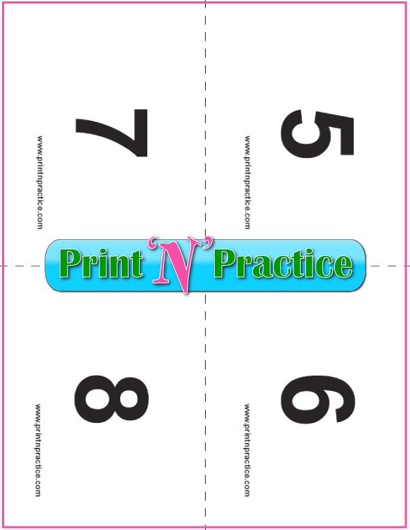 Printable preschool flash cards 5-8