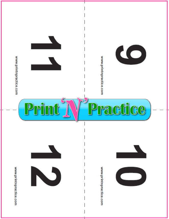 Preschool Flash Cards To Print 9-12