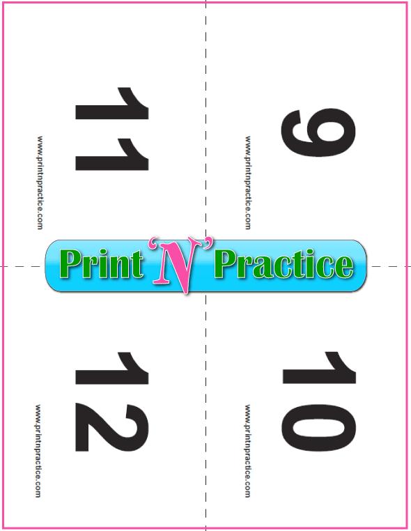 Preschool Flash Cards To Print 9-12
