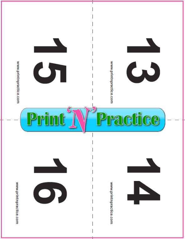 PDF Preschool Flash Cards 13-16