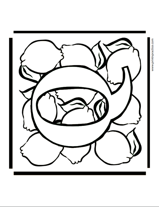 Q For Quince Printable Alphabet Letters For Coloring