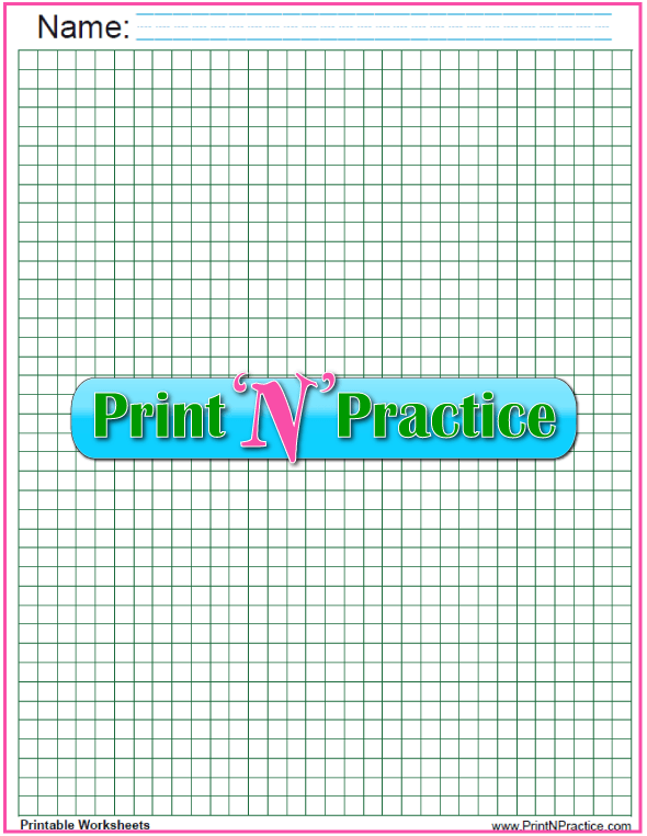 Green quarter inch graph paper to print.