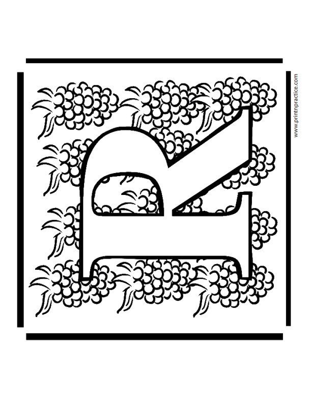 R For Raspberry Printable Coloring Alphabet Letters