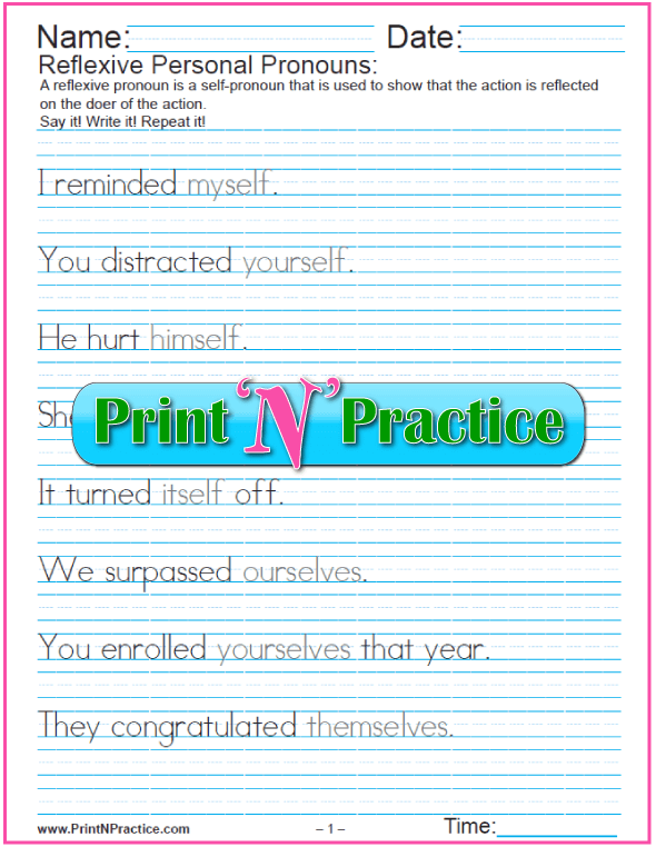 All Worksheets Reflexive Pronoun Worksheets With Answers Free – Reflexive Pronouns Worksheet
