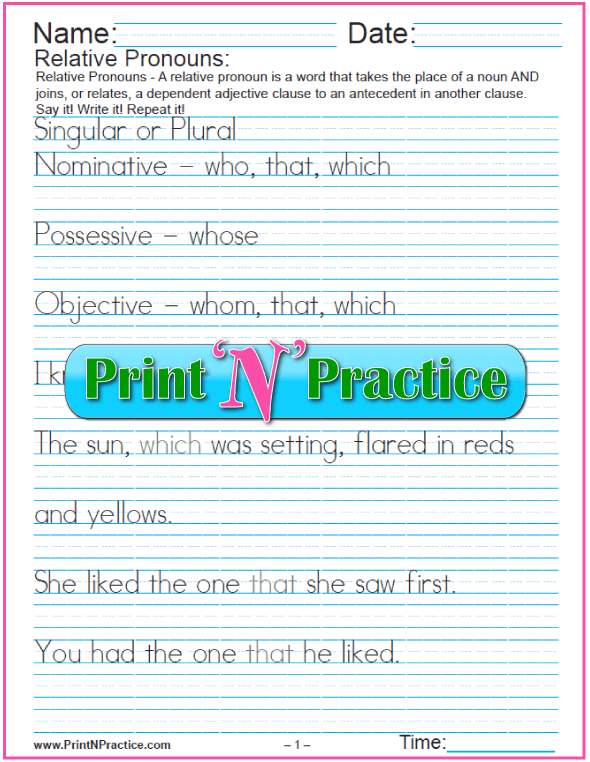 All Worksheets » Pronouns And Antecedents Worksheets - Free ...
