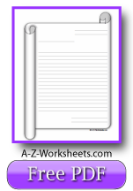 Printable Lined Writing Paper - Scroll Theme