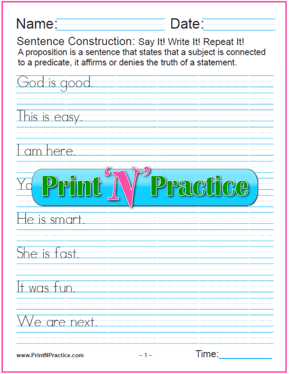 Simple Sentence Construction