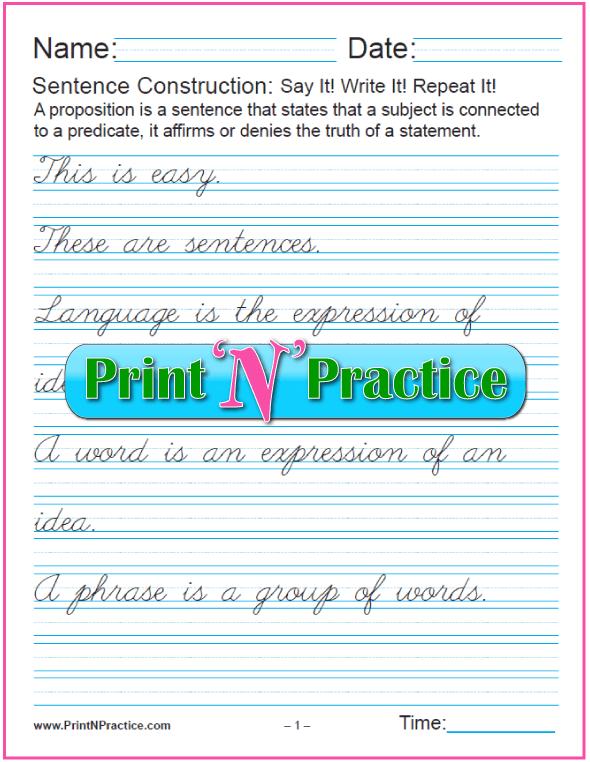 Cursive Sentences 2