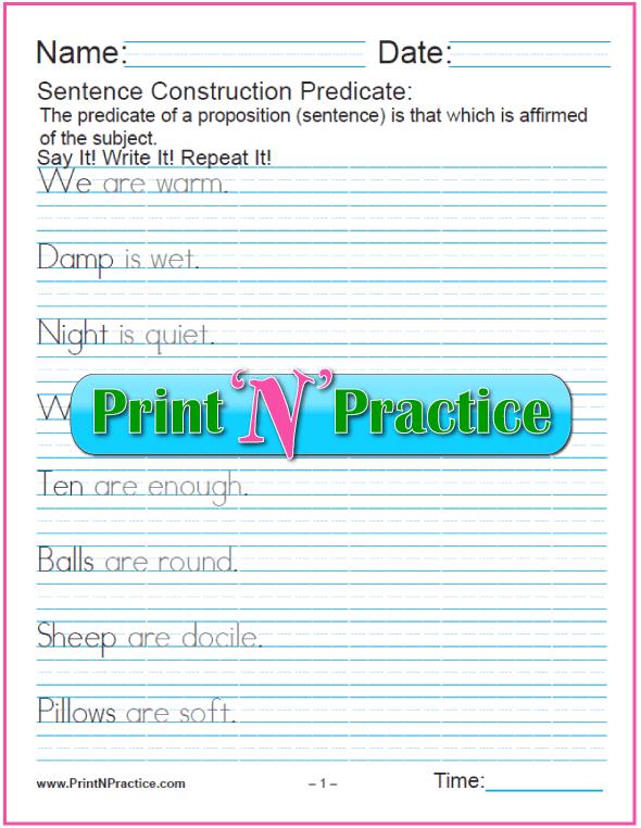 Predicate Sentences