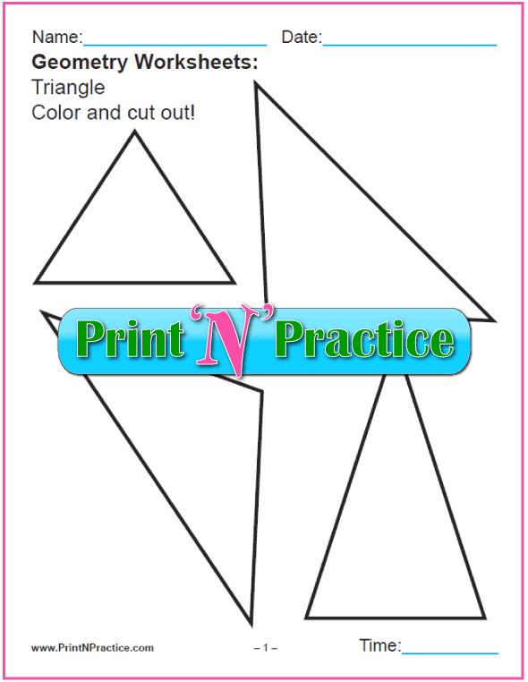First Grade Math Worksheets: Seven Simple Shapes Worksheets