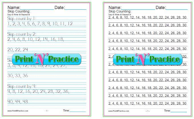 Fun Multiplication Worksheets: Skip Counting bundles