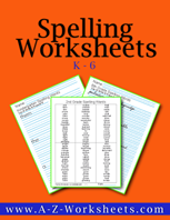 K-6 Buy All Our Printable Spelling Practice Worksheets