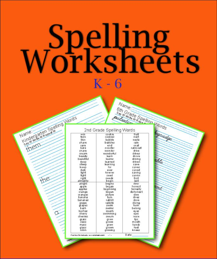 Printable Worksheets sixth grade spelling words worksheets : Printable Spelling Worksheets: Buy K-6 In One Bundle