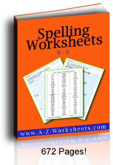 Buy these Printable Spelling Worksheets in a bundle!