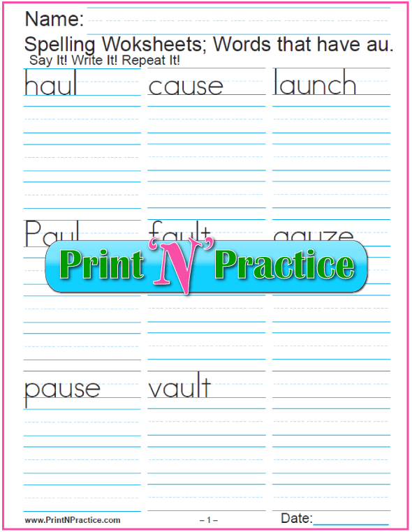 44 Phonics Worksheets Practice Phonics Words Copywork