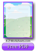 Spring Printable Lined Paper