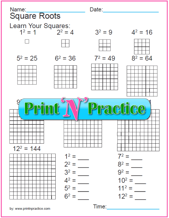 Exponent Worksheets: Simplify Exponents  Practice 1