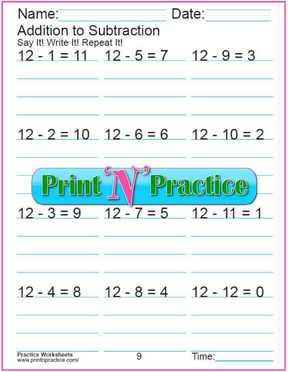 kindergarten subtraction worksheets practice for kids practice kindergarten subtraction worksheet subtracting