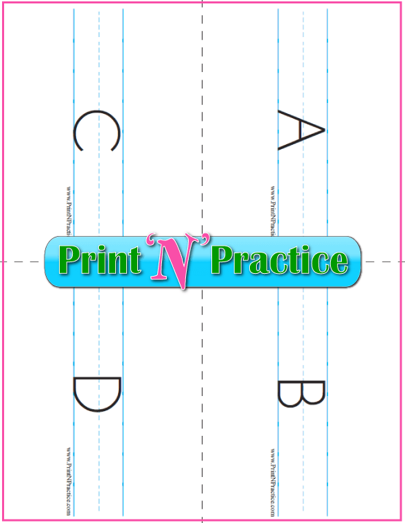 Uppercase Printable Alphabet Flashcards