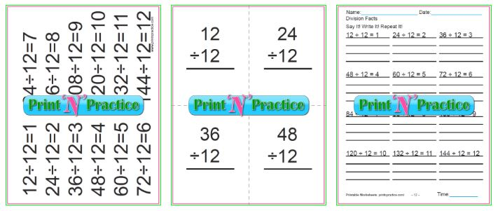 50 Third Grade Division Worksheets Kids Printable Division Practice