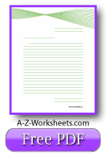 Green Ribbon Printable Lined Paper