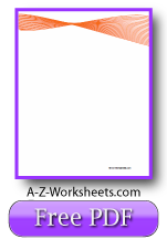 Unlined Orange Ribbon Printable Writing Paper