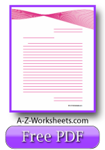 Pink Ribbon Printable Lined Paper