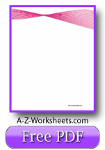Unlined Pink Ribbon Printable Writing Paper