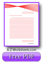 Printable Lined Writing Paper - Red Ribbon