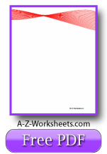 Unlined Red Ribbon Printable Writing Paper