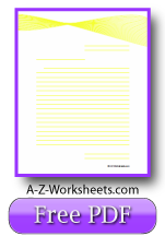 Yellow Ribbon Printable Lined Paper