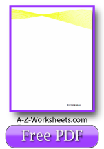 Yellow Ribbon Writing Sheet
