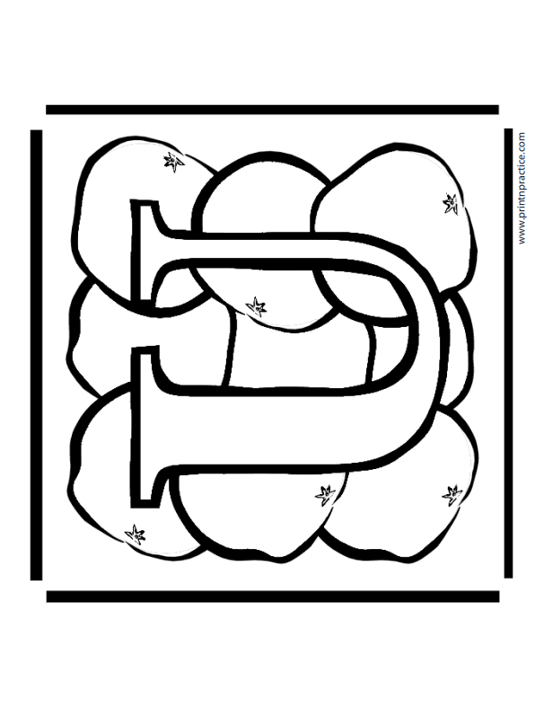 U For Ugli Alphabet Coloring Sheets