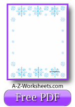 Snowflake Printable Writing Paper
