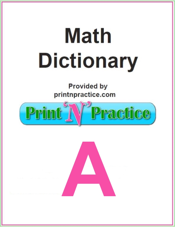 Math Words that start with A Math Definitions