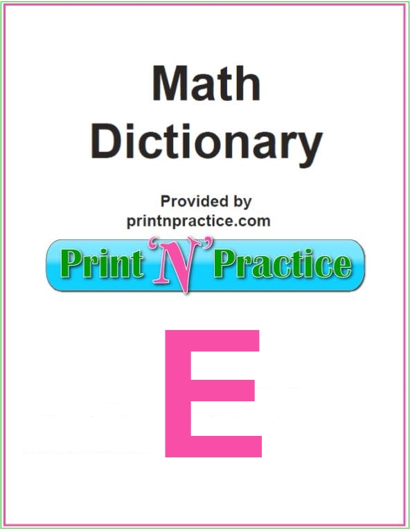 Math Words That Start With E: Equation, Element, Empty Set. Does your math glossary have all of these words?