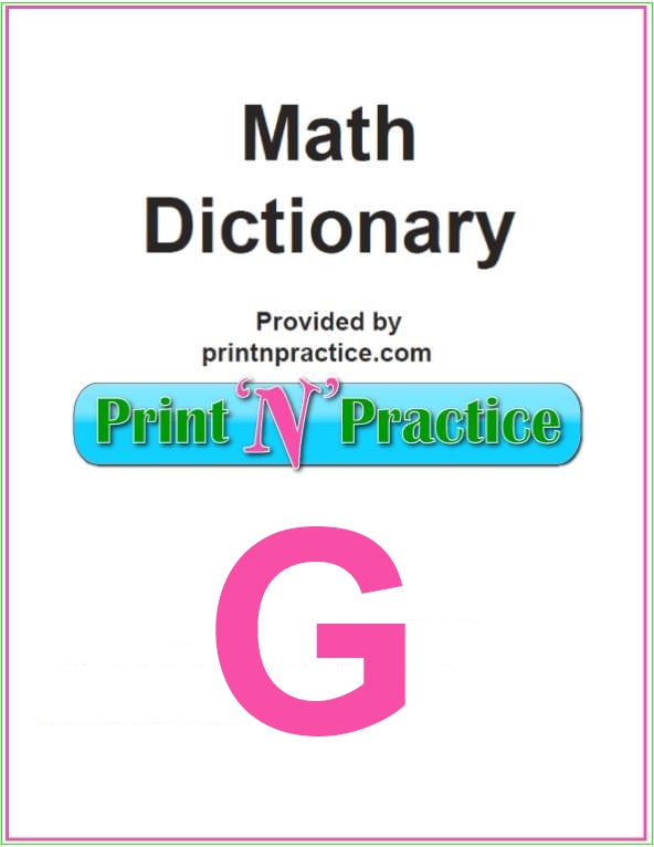 Words that start with G: Great for Math games and definitions!