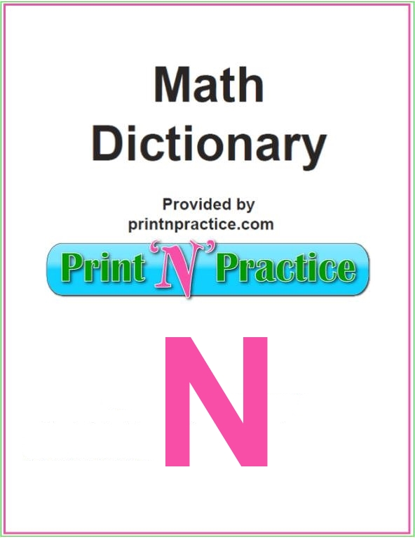 Math Words That Start With N: Does your math glossary have all these N words?