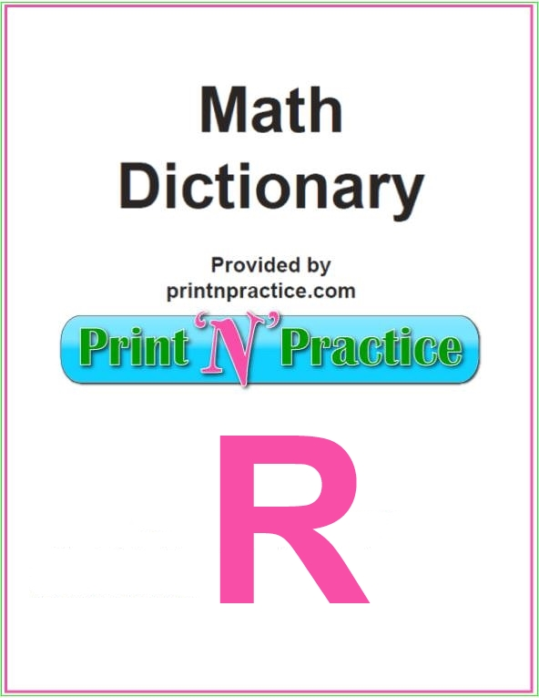Math Words That Start With R: Supplement your math glossary here.