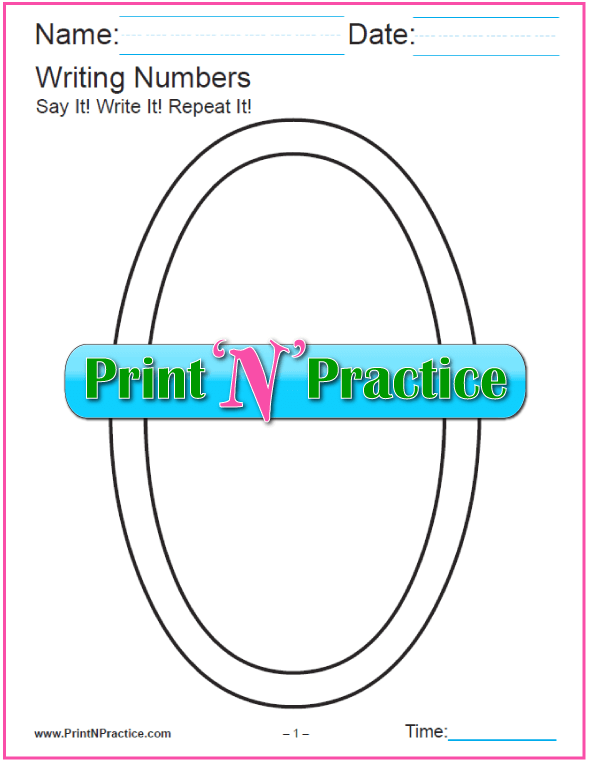 First Grade Math Worksheets: Number Coloring Pages