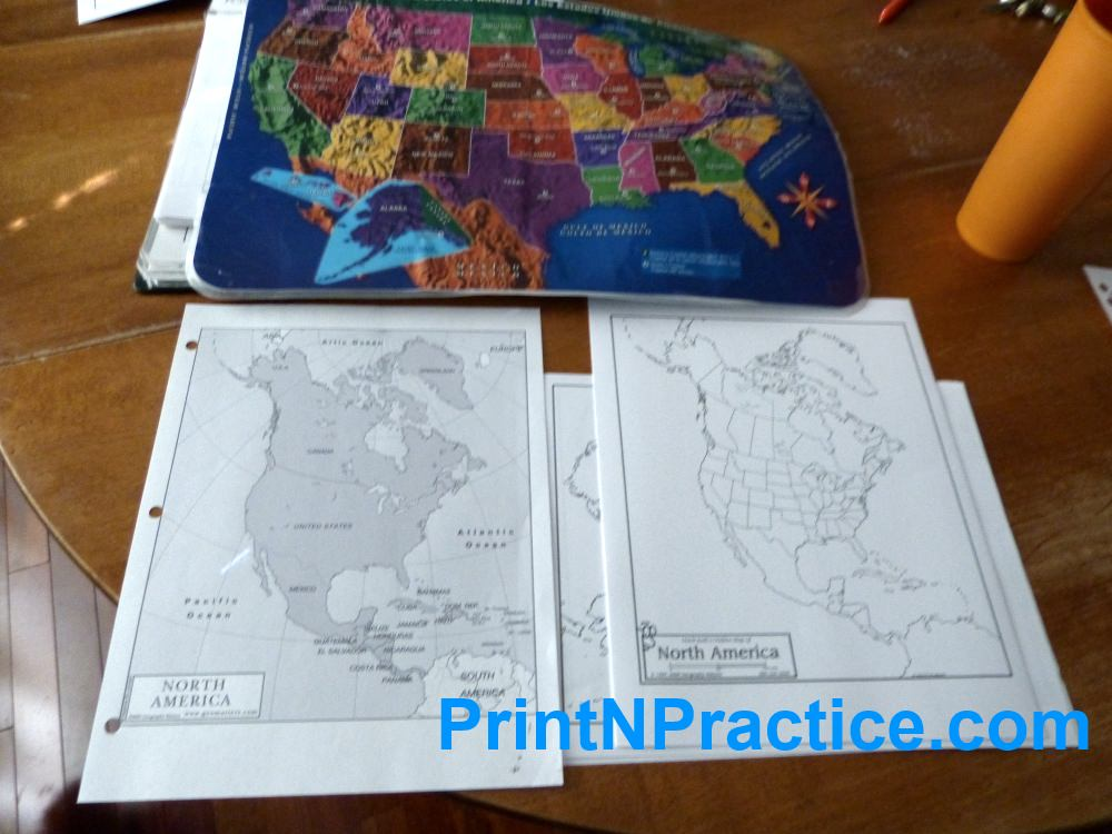 Use a 50 States map when you're studying an American History timeline.